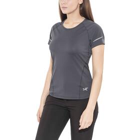 Arc'teryx Motus Crew T-shirt Dames, black sapphire